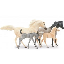 Coffret 2 Chevaux Et 2 Poulains Cloud'S Legacy (1:12 Scale) (Traditionnal)
