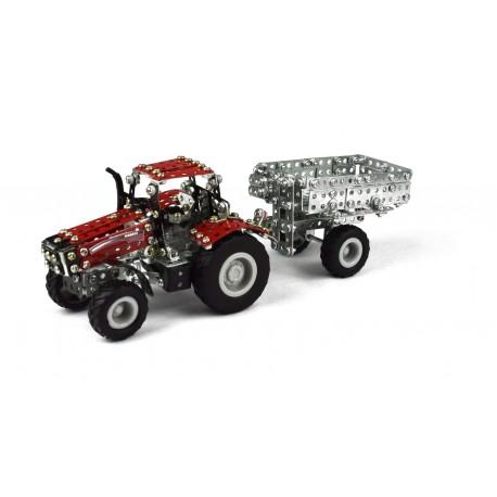 Micro Series - Tracteur Case Ih Magnum Avec Remorque - 570 Pieces