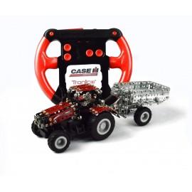 Micro Series Controle Infrarouge Avec Leds - Tracteur Case Ih Magnum Avec Remorque - 451 Pieces