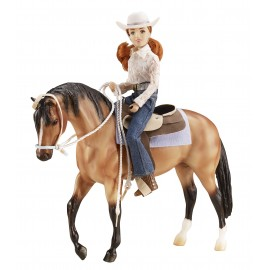 Coffret Western - Cheval + Figurine + Poster + Acc. (Traditionnal)