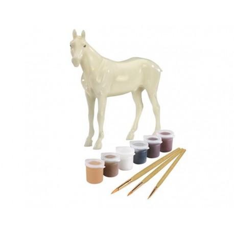 Coloriage Cheval Pur Sang.Kit De Peinture Sur Cheval Pur Sang Euro Miniature