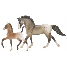 Assortiment 8 Chevaux + Poulains (2 Pcs De 4 Couples Differents) (Stablemates)