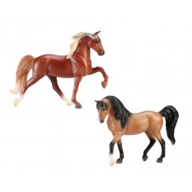 Assortiment 12 Coffrets De 2 Chevaux + 1 Poulain Surprise (4 Coffrets Differents X 3) (Stablemates)