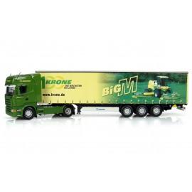Truck Scania R580 + Trailer Krone Big M