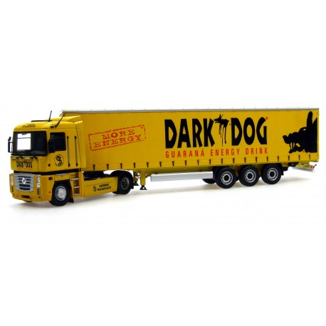 """Camion Renault Magnum + Remorque Krone """"Dark Dog"""" + Porte Cle Remorque **"""