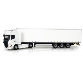 Truck Scania R 730 + Trailer Krone Profi Liner - White