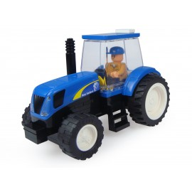 Tracteur New Holland A Monter Avec Figurine - 48 Pieces