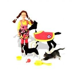 Set Animaux Familiers avec Figurines et Poulains