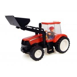 Tracteur Case + Chargeur + Fermier