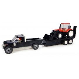 Pickup + Remorque + Tracteur Case + Chargeur + Fermier