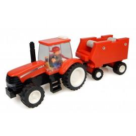 Tracteur Case + Presse + Fermier