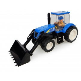 Tracteur New Holland + Chargeur + Fermier