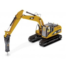 1:50 Cat 320D L Hydraulic Excavator with hammer