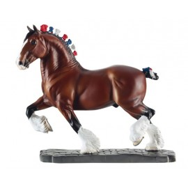 Race Du Monde - Cheval Clydesdale (Collection En Resine)