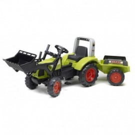 TRACTOPELLE CLAAS ARION 430 AVEC REMORQUE 3/7 ANS