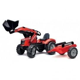 TRACTOPELLE MASSEY S8740 AVEC REMORQUE 3/7 ANS