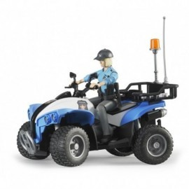 QUAD POLICE AVEC POLICIERE ET ACCESSOIRES