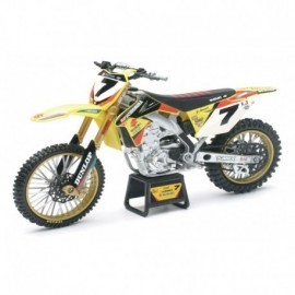 MOTO SUZUKI RMZ 450 2014 RACING JAMES STEWART N°7 - 1/12EME