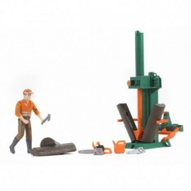 SET FORESTIER AVEC FIGURINE