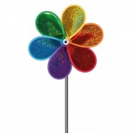 MOULIN A VENT POLYESTER GLITTER BLOOM 30 x 40 CM
