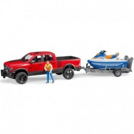 VEHICULE RAM 2500 POWER WAGON REMORQUE SCOOTER MER FIGURINE