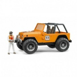 JEEP CROSS COUNTRY RACER ORANGE AVEC CONDUCTEUR