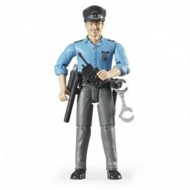 POLICIER NOIR AVEC ACCESSOIRES