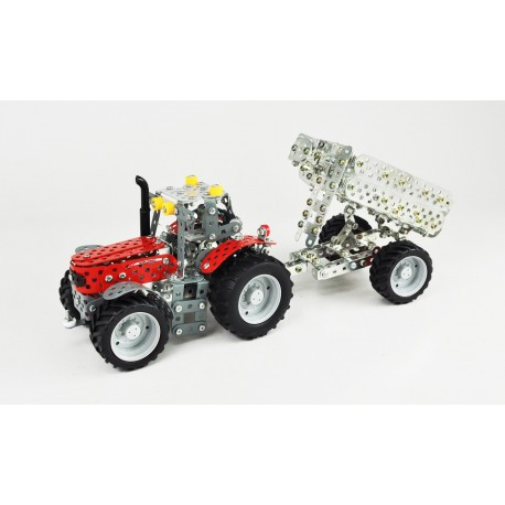 Mini Series - Massey Ferguson Mf-5611 Avec Remorque - 708 Pieces