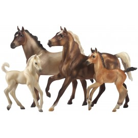 Coffret 2 Chevaux Et 2 Poulains Mustang Gallion (1:12 Scale) (Traditionnal)