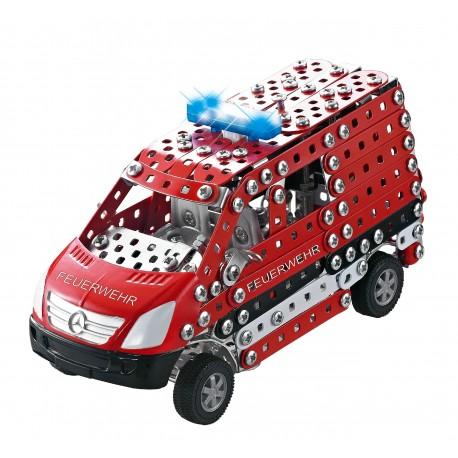 Mini Series - Pompier Mercedes Benz Sprinter Lumiere & Son - 492 Pieces