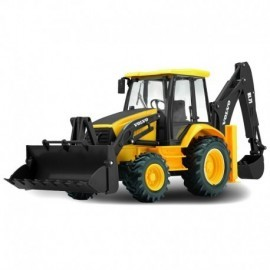 TRACTOPELLE VOLVO BACKHOE LOADER RADIO COMMANDE 1/18EME