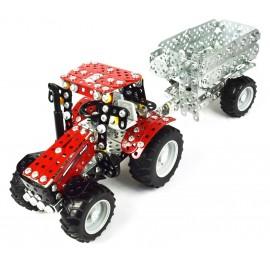 Mini Series - Tracteur Case Ih Puma Cvx Avec Remorque - 870 Pieces