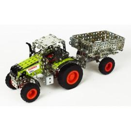 Micro Series - Tracteur Claas Axion 850 Avec Remorque - 565 Pieces