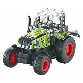 Micro Series Controle Infrarouge Avec Leds - Tracteur Claas Axion 850 Avec Remorque - 443 Pieces