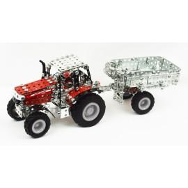 Micro Series - Tracteur Massey Fergusson Mf-7600 Avec Remorque - 560 Pieces