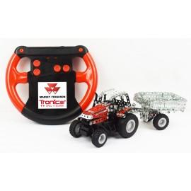 Micro Series Controle Infrarouge Avec Leds - Tracteur Massey Fergusson Mf-7600 Avec Remorque - 441 Pieces