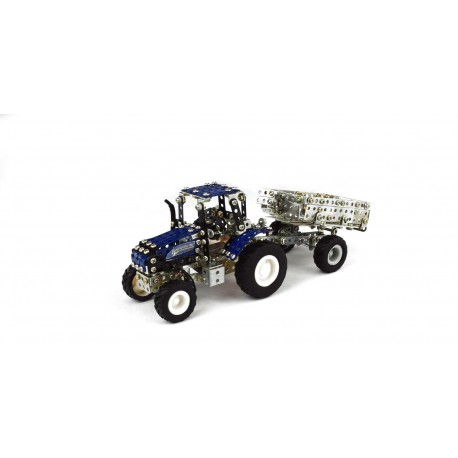 Micro Series - Tracteur New Holland T5-115 Avec Remorque - 583 Pieces